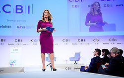 © Licensed to London News Pictures. 21/11/2016. London, UK. Nicola Mendelsohn, Vice President EMEA, Facebook, speaking at the Confederation of British Industry (CBI) conference, held at Grosvenor House in London.  Photo credit: Ben Cawthra/LNP