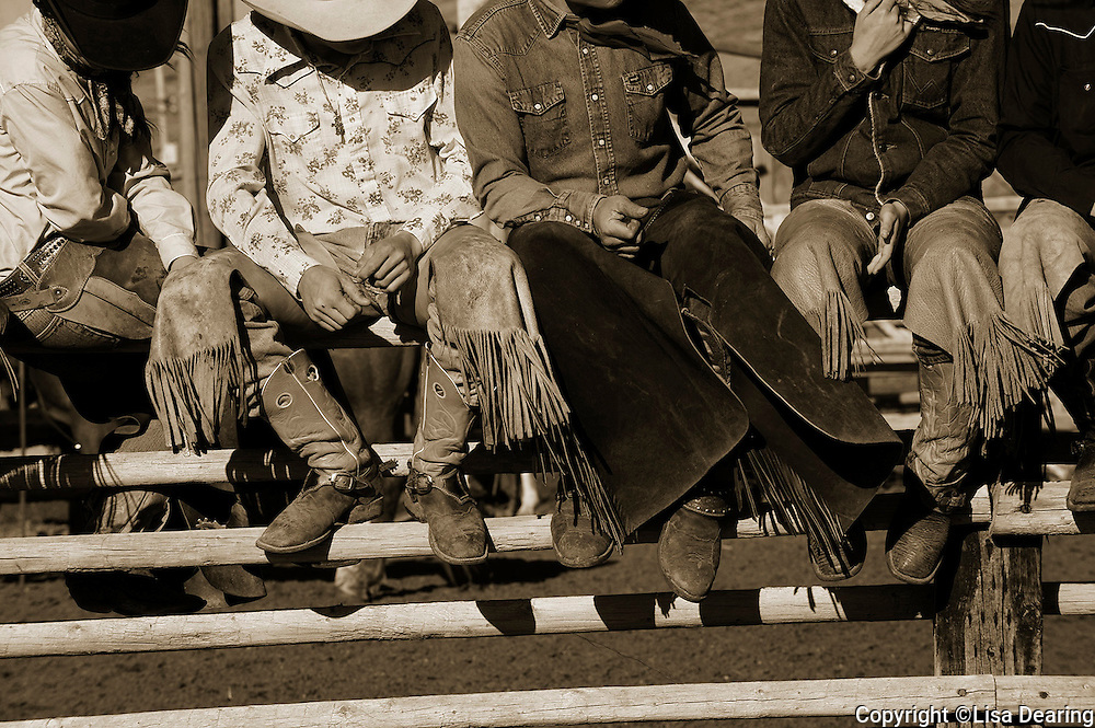 Cowboys Chaps on Fence at Ranch Rodeo