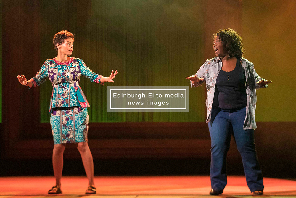 Chronicling Jackie Kay's 20-year search for her biological mother and father and her quest for them to recognise her own existence. <br /> <br /> National Theatre of Scotland's Red Dust Road is adapted from the soul-searching memoir by Jackie Kay, poet, playwright, novelist and Scottish Makar. It's a journey full of heart, humour and profound emotion, exploring race, identity and family secrets, with a deeply human curiosity and compassion.<br /> <br /> Red Dust Road is adapted for the stage by Tanika Gupta, winner of last year's James Tait Black Prize for her drama Lions and Tigers. Completing the creative trio is Dawn Walton, director of the acclaimed salt. by Selina Thompson.<br /> <br /> Red Dust Road is at the Edinburgh International Festival from 14 - 18 August<br /> <br /> Pictured: Sasha Frost, Simone Cornelius