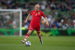 DUBLIN, REPUBLIC OF IRELAND - Friday, May 27, 2011: Wales' David Cotterill in action against Northern Ireland during the Carling Nations Cup match at the Aviva Stadium (Lansdowne Road). (Photo by David Rawcliffe/Propaganda)