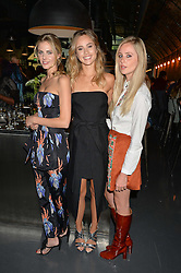 Left to right, DONNA AIR, SUKI WATERHOUSE and DIANA VICKERS at a party to launch the Amazon Fashion Photography Studio at 383 Geffrye Street, London E2 on 23rd July 2015.