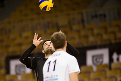 Klemen Hribar of Calcit Volley during 1st Leg volleyball match between ACH Volley and OK Calcit Volley in Final of 1. DOL Slovenian National Championship 2017/18, on April 17, 2018 in Hala Tivoli, Ljubljana, Slovenia. Photo by Urban Urbanc / Sportida