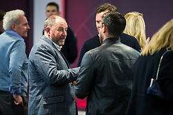 Former Bristol City Manager Gary Johnson speaks to current manager and son Lee Johnson and CEO Mark Ashton at Marina Dolman's Book Launch at Ashton Gate - Rogan/JMP - 15/11/2017 - SPORT - Ashton Gate Stadium - Bristol, England.