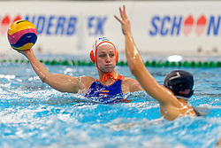 Maartje Keuning #9 of Netherlands in action during the friendly match Netherlands vs USA on February 19, 2020 in Amerena Amersfoort.