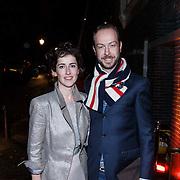 NLD/Amsterdam/20131114 - 10 jarig bestaan Louis Vuitton Nederland, Jan Taminiau en zus
