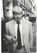BORIS JOHNSON, SPECTATOR PARTY, Doughty St. July 2000
