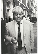 BORIS JOHNSON, SPECTATOR PARTY, Doughty St. July 2000