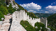 The Great Wall and fortress, Ston, Dalmatian Coast, Croatia