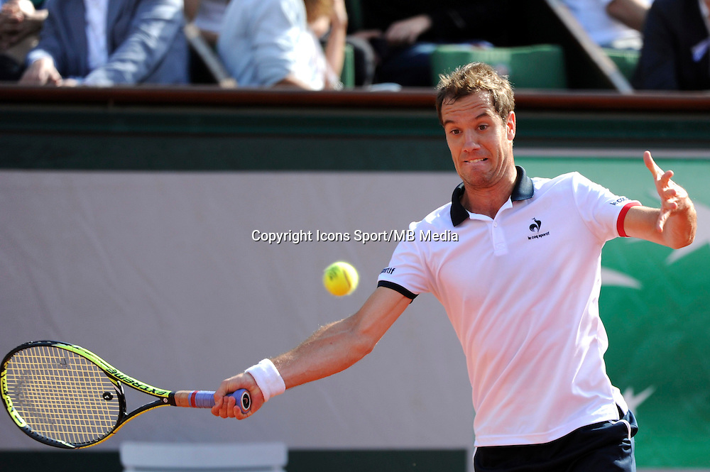 Richard GASQUET  - 01.06.2015 - Jour 9 - Roland Garros 2015<br /> Photo : Nolwenn Le Gouic / Icon Sport