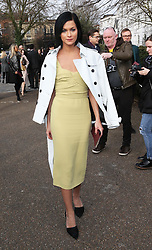 Leigh Lezark arriving at the Burberry Prorsum show at London Fashion Week A/W 14, Monday, 17th February 2014. Picture by Stephen Lock / i-Images