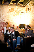 Candice Motley, Ryan Jones, and Taylor Holmes at Fox Liquor Bar in Raleigh, NC.