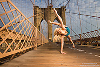 New York City Dance As Art Photography Project- Brooklyn Bridge with ballerina and dancer, Erika Citrin