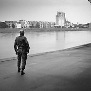 A member of the United Nations Protection Force in Osijek, Croatia.