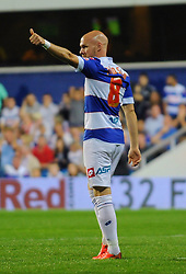 Queen Park Rangers' Andy Johnson  - Photo mandatory by-line: Seb Daly/JMP - Tel: Mobile: 07966 386802 27/08/2013 - SPORT - FOOTBALL - Loftus Road - London - Queens Park Rangers V Swindon Town -  Capital One Cup - Round 2
