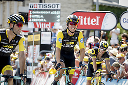 July 7, 2018 - France - JANSEN Amund Grondahl (NOR) of Team Lotto NL - Jumbo and MARTENS Paul (GER) of Team Lotto NL - Jumbo during stage 1 of the 105th edition of the 2018 Tour de France cycling race, a stage of 201 kms between Noirmoutier-en-l'Ile and Fontenay-Le-Comte on July 07, 2018 in Fontenay-Le-Comte, France, 7/07/18 (Credit Image: © Panoramic via ZUMA Press)