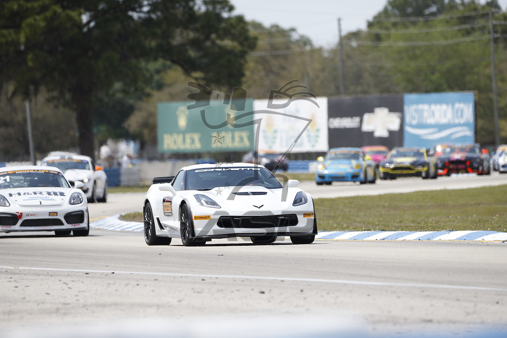 Sebring, FL - Mar 18, 2016:  The Continental Tire Sports Car Challenge teams take to the track on Continental tires for the Continental Tire Challenge at Sebring International Speedway in Sebring, FL.