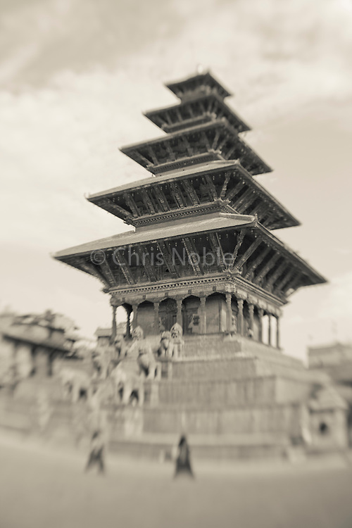 A pagoda style temple in Bhaktapur's Durbar Square.