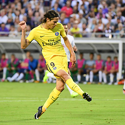 Edinson Cavani of PSG puts his side 1-0 ahead during the International Champions Cup match between Paris Saint Germain and Tottenham Hotspur on July 22, 2017 in Orlando, United States. (Photo by Dave Winter/Icon Sport)