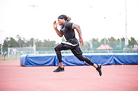 Derrick Henry trains with  Coach Tom Shaw  for the NFL Combine at the Disney Wide World of Sports in Orlando, Florida on February 15, 2016. (Tom Hauck via AP)