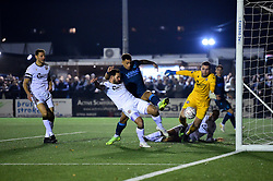 Jonson Clarke-Harris of Bristol Rovers scores his sides first goal of the game - Mandatory by-line: Ryan Hiscott/JMP - 19/11/2019 - FOOTBALL - Hayes Lane - Bromley, England - Bromley v Bristol Rovers - Emirates FA Cup first round replay