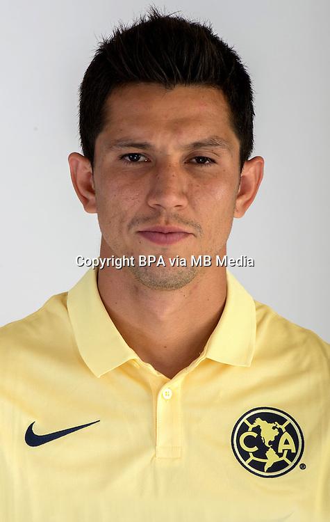 """Mexico League - BBVA Bancomer MX 2014-2015 -<br /> Aguilas - Club de Futbol America / Mexico - <br /> Jesus Antonio Molina Granados """" Jesus Molina """""""