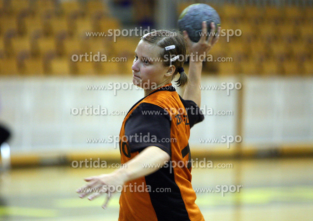 Vanesa Miler of Brezice at  handball game between women team RK Olimpija vs ZRK Brezice at 1st round of National Championship, on September 13, 2008, in Arena Tivoli, Ljubljana, Slovenija. Olimpija won 41:17. (Photo by Vid Ponikvar / Sportal Images)