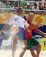 Footbal-FIFA Beach Soccer World Cup 2006 - Final- FRA xPOR -Marinho and Librra  -Rio de Janeiro- Brazil - 12/11/2006.<br />Mandatory Credit: FIFA/Ricardo Ayres