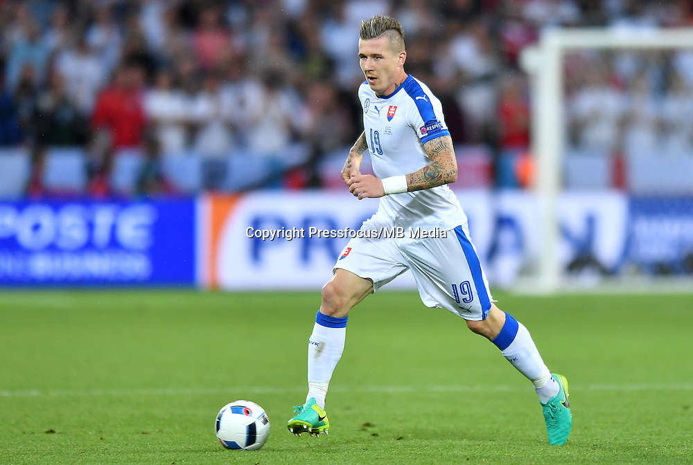 2016.06.20 Saint-Etienne<br /> Football UEFA Euro 2016 group C game between Slovaki and England<br /> Juraj Kucka<br /> Credit: Lukasz Laskowski / PressFocus