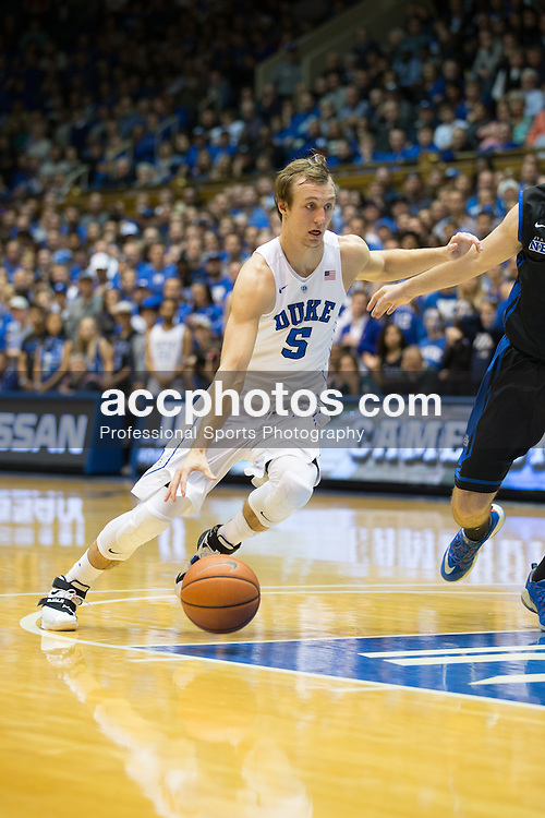 DURHAM, NC - DECEMBER 05: Luke Kennard #5 of the Duke Blue Devils plays against the Buffalo Bulls during a 59-82 Duke Blue Devils win on December 05, 2015 at Cameron Indoor Stadium in Durham, North Carolina. (Photo by Peyton Williams/Getty Images) *** Local Caption *** Luke Kennard