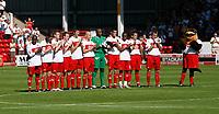 Photo: Steve Bond.<br />Walsall v Swansea City. Coca Cola League 1. 25/08/2007. Walsall observe a minute applause for trainee Anton reid