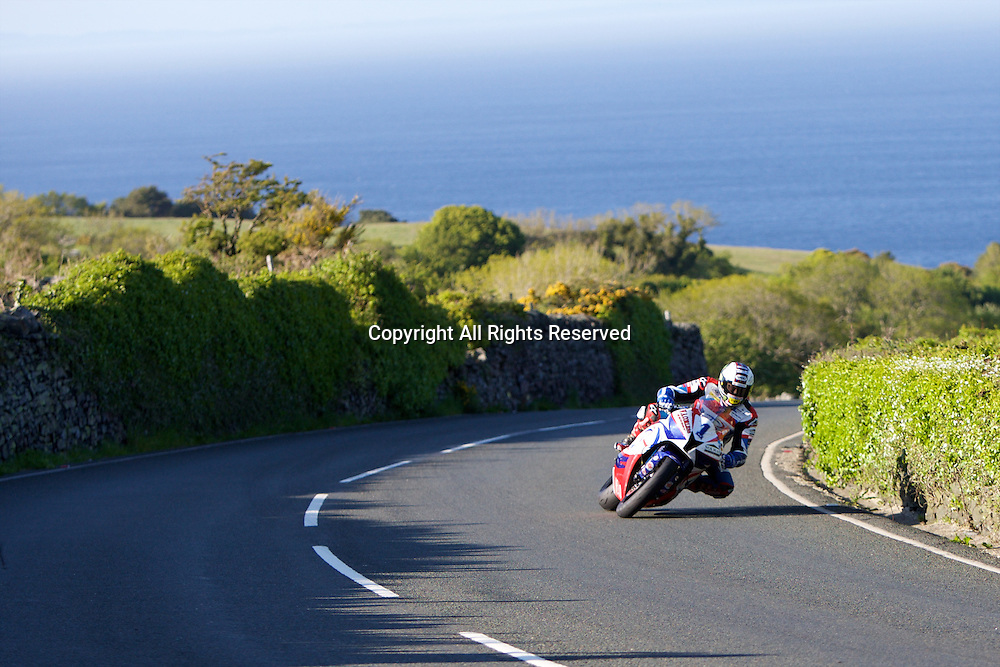 08.06.2015. Douglas, Isle of Man. 2015 Isle of Man TT Races. John McGuinness in action during the TT Supersport race.