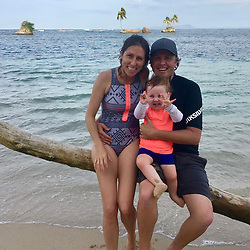 EXCLUSIVE: How about owning your own tropical Caribbean luxury resort for just $10. American couple Suzanne and Dave Smith are selling off their incredible Casa Cayuco Eco Adventure Lodge, in Bocas del Toro, Panama, Central America. But instead of listing their stunning multi-million-pound island getaway for sale they are offering the chance for anyone who buys a $10 ticket to win their extraordinary lifestyle and profitable business. Dave and Suzanne have spent five years turning a former rustic lodge into one that has just been voted number one resort on TripAdvisor in Panama. Their incredible two-acre slice of heaven is bordered by sloth-filled rainforest to the rear and crystal clear coral sea to the front. The lucky winner of the 24-guest resort will become owner of four stand-alone cabins, a main lodge, two lodge suites, and an air-conditioned luxury owner's suite designed by Dave and Suzanne themselves and built by skilled local carpenters. Outside, Casa Cayuco comes with its own jetty and thatch covered sun terrace as well as everything you need to run a business, including commercial kitchen communication tower, laundry and maintenance building and THREE power boats, each over 23-foot long. Kayaks, snorkelling, spear fishing and paddle boards and surf gear are also ready and waiting to be used by a new owner and guests alike. And if that's not enough, British competition organisers WinThis.Life https://winthis.life/index.aspx# are offering a $50,000 cash injection to welcome the new owners. All those wishing to take part have to do is buy one or more tickets and play a spot-the-ball-type competition on the website. Entries are being taken extension until April 11. Dave, 35, and Suzanne, 33, first arrived on the island in 2013 with just seven suitcases having decided to sell up from their home and corporate lives near Detroit, Michigan, USA. 16 Feb 2018 Pictured: Pic shows present owners Dave and Suzanne Smith with their daughter Mina at Caribbean resort
