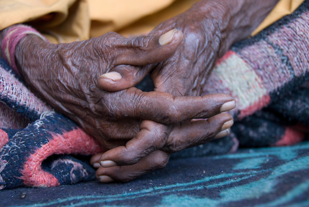 These hands worked for many years in the harsh environment of the Rajasthani Thar desert (India)