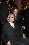 "JOHN MORTIMER AND ROSIE MORTIMER,  The after show party following the UK Premiere of ""Match Point,"" at Asprey, New Bond st. London.   December 18 2005 ,  ONE TIME USE ONLY - DO NOT ARCHIVE  © Copyright Photograph by Dafydd Jones 66 Stockwell Park Rd. London SW9 0DA Tel 020 7733 0108 www.dafjones.com"