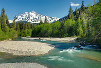 Mount Shuksan from the Nooksack River, North Cascades Washington USA