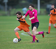 - Club 83 (orange) v DK Raiders (pink), Dundee Saturday Morning Football League at Riverside, Dundee. Photo: David Young<br /> <br />  - © David Young - www.davidyoungphoto.co.uk - email: davidyoungphoto@gmail.com