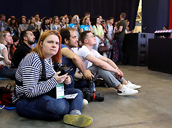 May 23, 2019 - Kyiv, Ukraine - Attendees are pictured at the iForum2019, the Ukrainian forum of netizens, Kyiv, capital of Ukraine, May 23, 2019. Ukrinform. (Credit Image: © Tarasov/Ukrinform via ZUMA Wire)