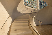 Modern architecture, stairs passage,Benidorm, Alicante, Costa Blanca, Spain