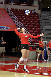 23 September 2017:  Sydney Holt during a college women's volleyball match between the Salukis of Southern Illinois and the Illinois State Redbirds at Redbird Arena in Normal IL (Photo by Alan Look)