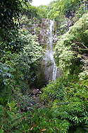 Maui, Hawaii. Wialua Falls in the Kipahulu area