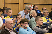 fans young and old approve the planning and support AFC Wimbledon Chief Executive Erik Samuelson comments during the planning application meeting to redevelop the Plough Lane site into a new 20,000 all seater stadium for AFC Wimbledon at Merton Civic Centre, Morden, United Kingdom on 10 December 2015. Photo by Stuart Butcher. The joint application is lodged by Galliard Homes and AFC Wimbledon.