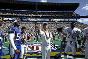 Admiral Fargo does the coin toss at the 2003 Pro Bowl, the NFL  All-Star Game at Aloha Stadium in Hawaii on 02/02/2003. The  AFC intercepted 6 passes to defeat the NFC for the third year in a row, this time by a score of 45 to 20. ©Paul Anthony Spinelli