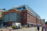 Ibrox Stadium bathed in sunshine ahead of the Ladbrokes Scottish Premiership match between Rangers and Celtic at Ibrox, Glasgow, Scotland on 12 May 2019.