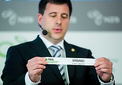 Ales Zavrl of NZS with paper NK Stojnci during NZS Draw for season 2015/16 on June 23, 2015 in Brdo pri Kranju, Slovenia. Photo by Vid Ponikvar / Sportida