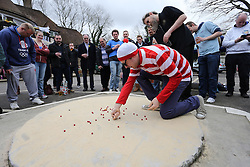 ©Licensed to London News Pictures 03/04/2015  London, UK. The Marble Championships 2015 held at The Greyhound Pub Tilsley Green Crawley teams form Charlwood, and Crawley  . Photo credit: Presspics/LNP