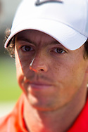 Rory McIlroy face portrait<br /> at the WGC Cadillac 2014 Doral, Blue Monster GC, Miami, Florida, USA<br /> Picture Credit:  Mark Newcombe / www.visionsingolf.com