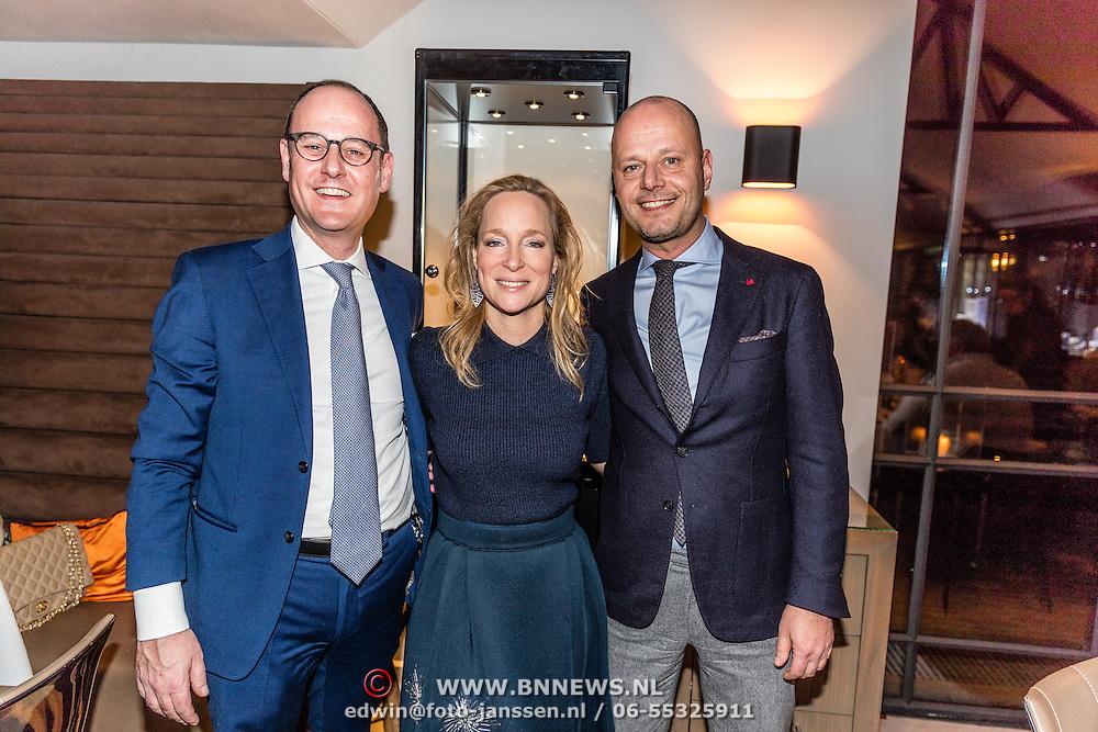 NLD/Waalre/20170130 - Lancering nieuwe juwelenlijn Leaves Dewdrops van Prinses Margarita , Prinses Margarita met Michael Röell en Marcel Snoeren