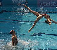 Busto Arsizio (VA) - Italy.CoMeN - Mediterranean Synchronised Swimming cup 2011.The international competition is reserved to athletes 14 years old or younger. 25 nations are taking part to the 2011 edition..Day 02 - Team Free preliminaries.Team Austria AUT ..Photo G.Scala/Deepbluemedia.eu