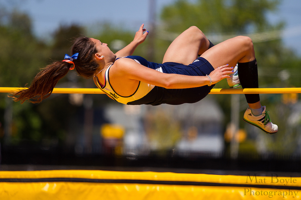 Women's High Jump at the NJAC Track and Field Championships at Richard Wacker Stadium on the campus of  Rowan University  in Glassboro, NJ on Sunday May 5, 2013. (photo / Mat Boyle)