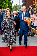 ZEIST - Prof. dr. mr. Pieter van Vollenhoven arrives with princess Margriet for the celebration of his 80th birthday in theater Figi. copyrught robin utrecht